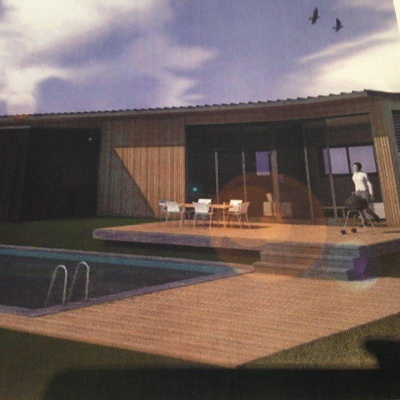 Vente projet de construction bois terrain - Le loft portes les valence ...